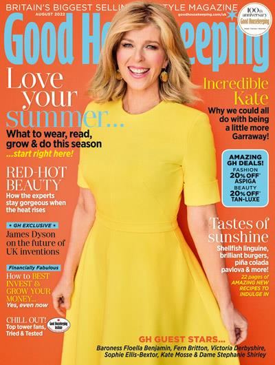 Davina McCall cover of Good Housekeeping magazine February 2016