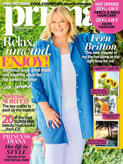 Caroline Quentin on the cover Prima magazine February 2016, Hearst magazine subscriptions