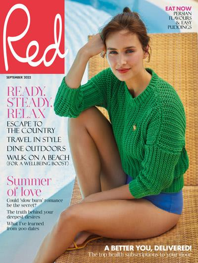 Elle Macpherson on the cover of Red magazine February 2016, Hearst magazine subsctiptions